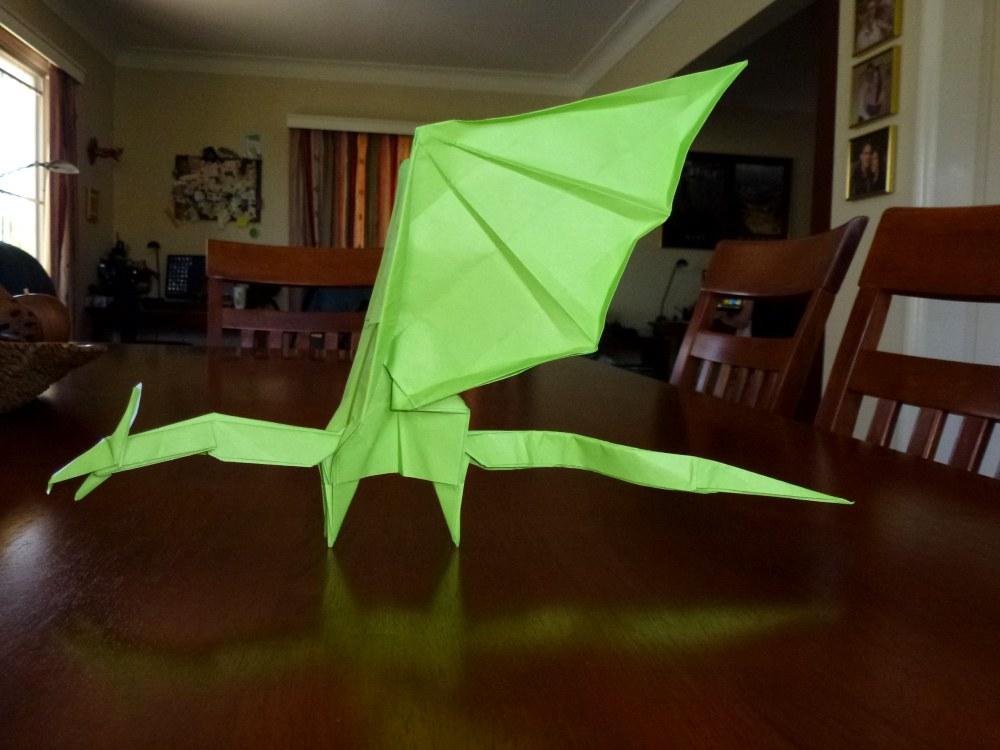 Origami Simple Dragon Tutorial (Shuki Kato) 折り紙 単純なドラゴン ...   750x1000
