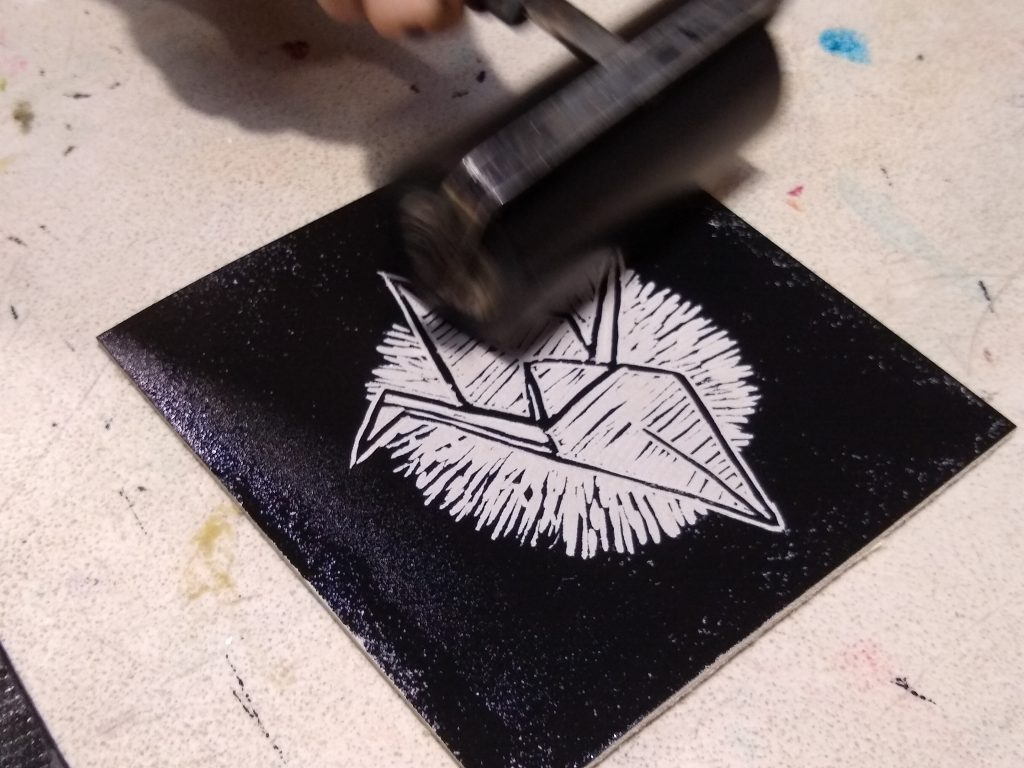 applying ink reveals the negative image