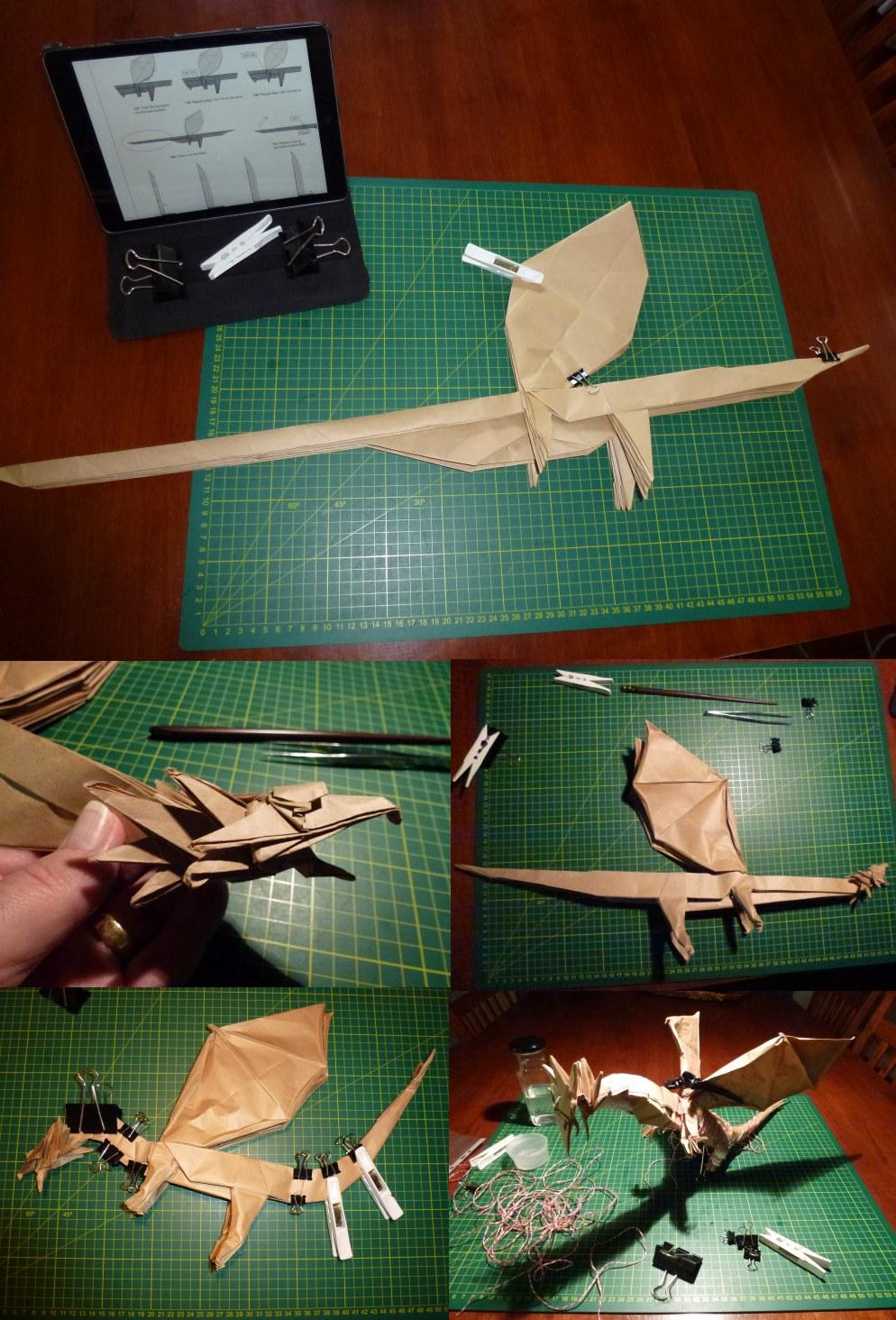 Origami・2014 WOD】Western Dragon (Designed by Shuki Kato ... | 1464x994