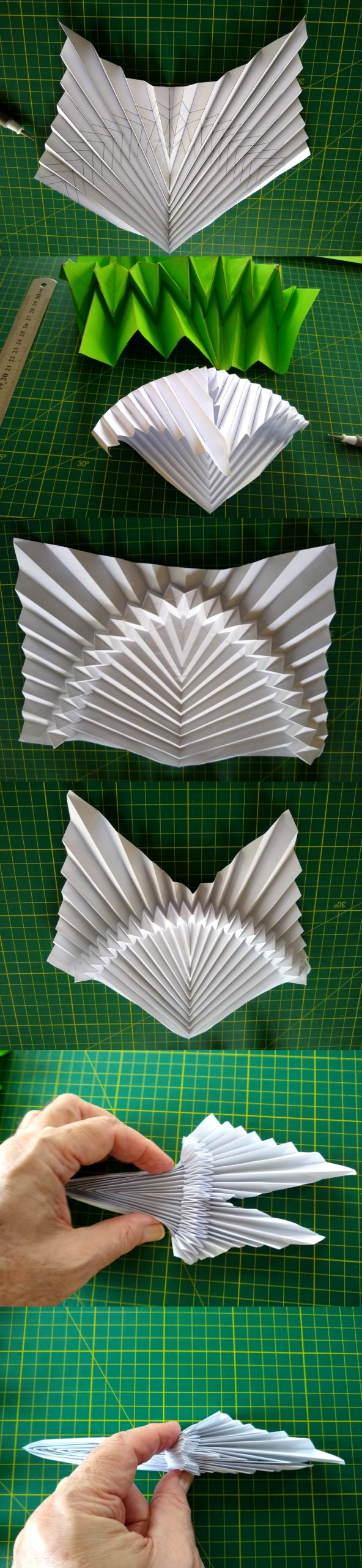 Flat-folding Curve-following Parabolic Corrugation development