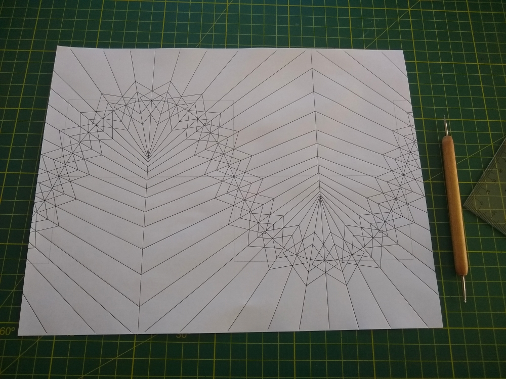 flat-folding sine wave-based corrugation - crease pattern
