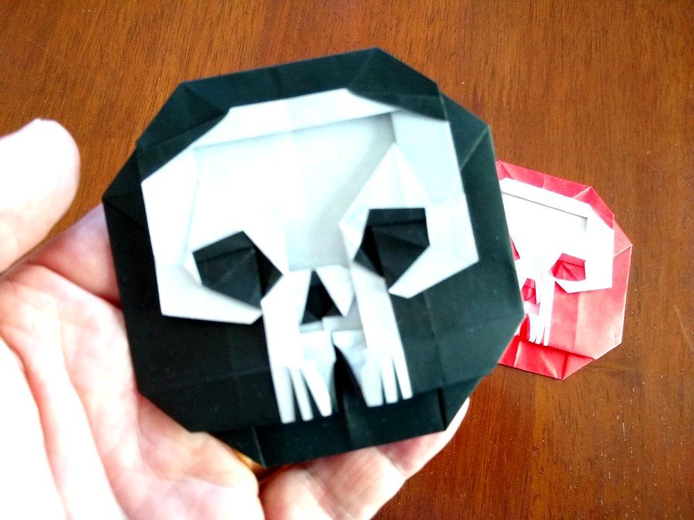 Mi Wu Skull Badge scale