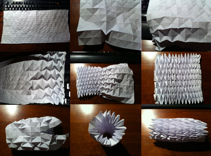 Mostly Folding: Creating my own lampshades based on the origami ... | 658x890