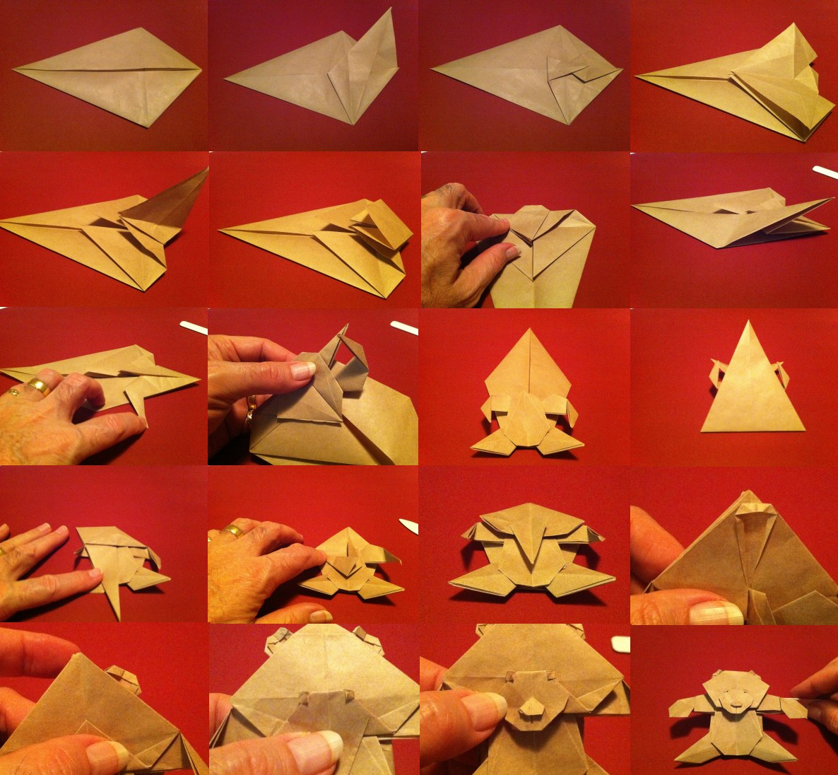 How To Make An Origami Brown Bear