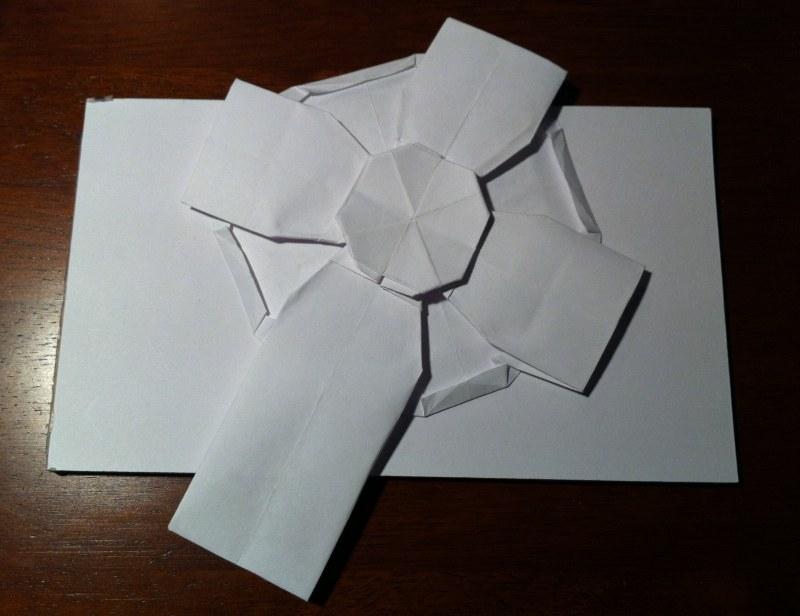 Easy Origami Cross Tutorial - Paper Kawaii | 616x800