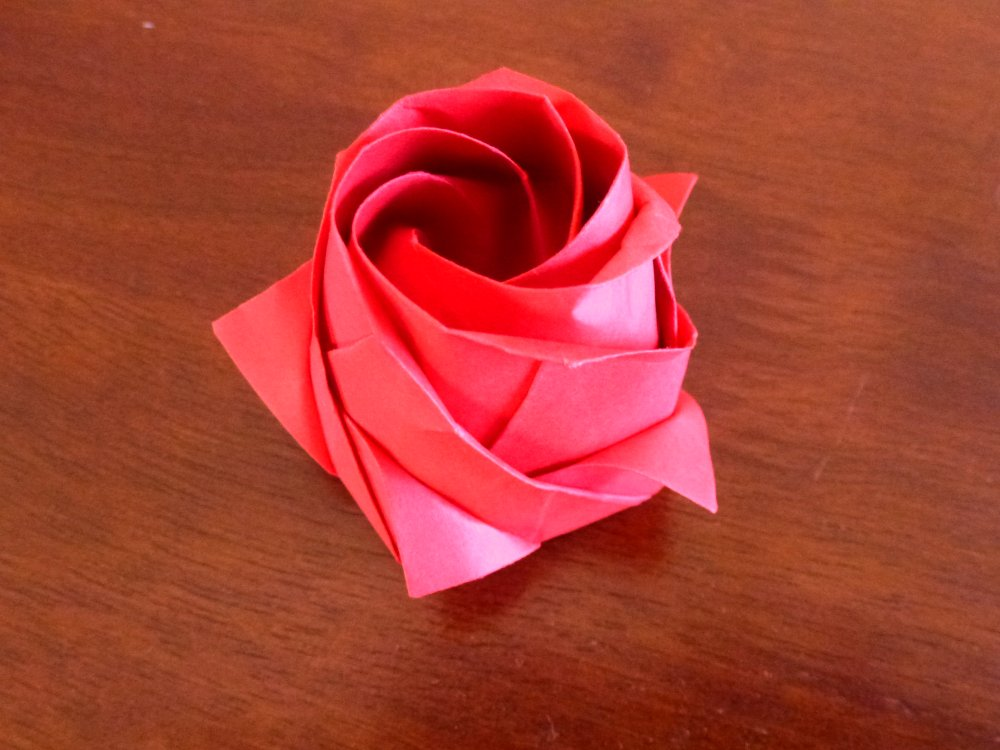 Part1/3 : How to fold Naomiki Sato Origami Rose (Pentagon Rose ... | 750x1000