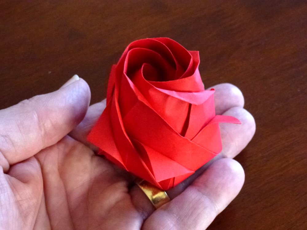 ORIGAMI BOUQUET OF ROSES - PENTAGON ROSE (Naomiki Sato) 折り紙 ... | 750x1000
