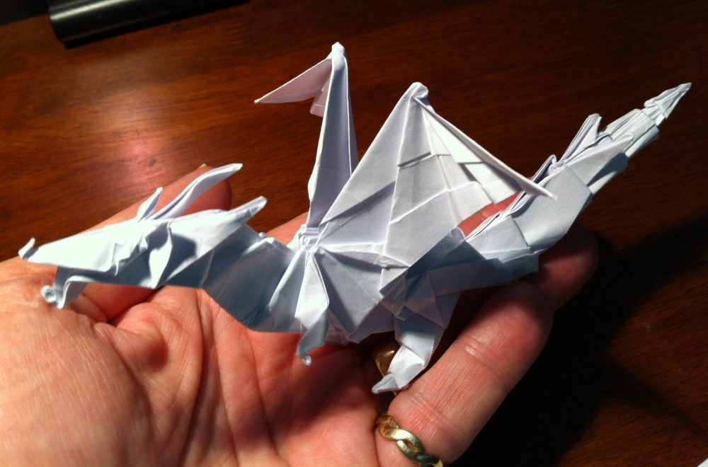 origami fiery dragon instructions
