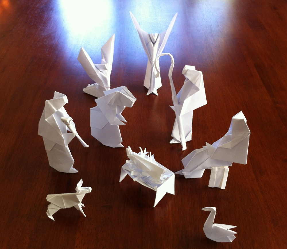 Origami Nativity Related Keywords & Suggestions - Origami Nativity ...