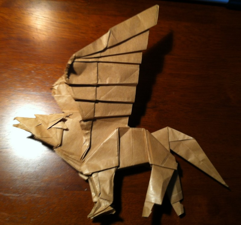 Harry Potter Origami Hippogriff