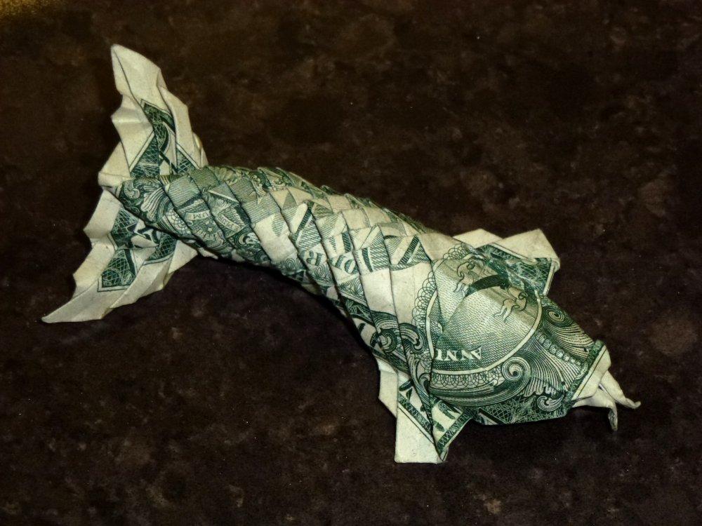 Dollar Bill Origami KOI FISCH japanischen Charme 3D kleine | Etsy | 750x1000