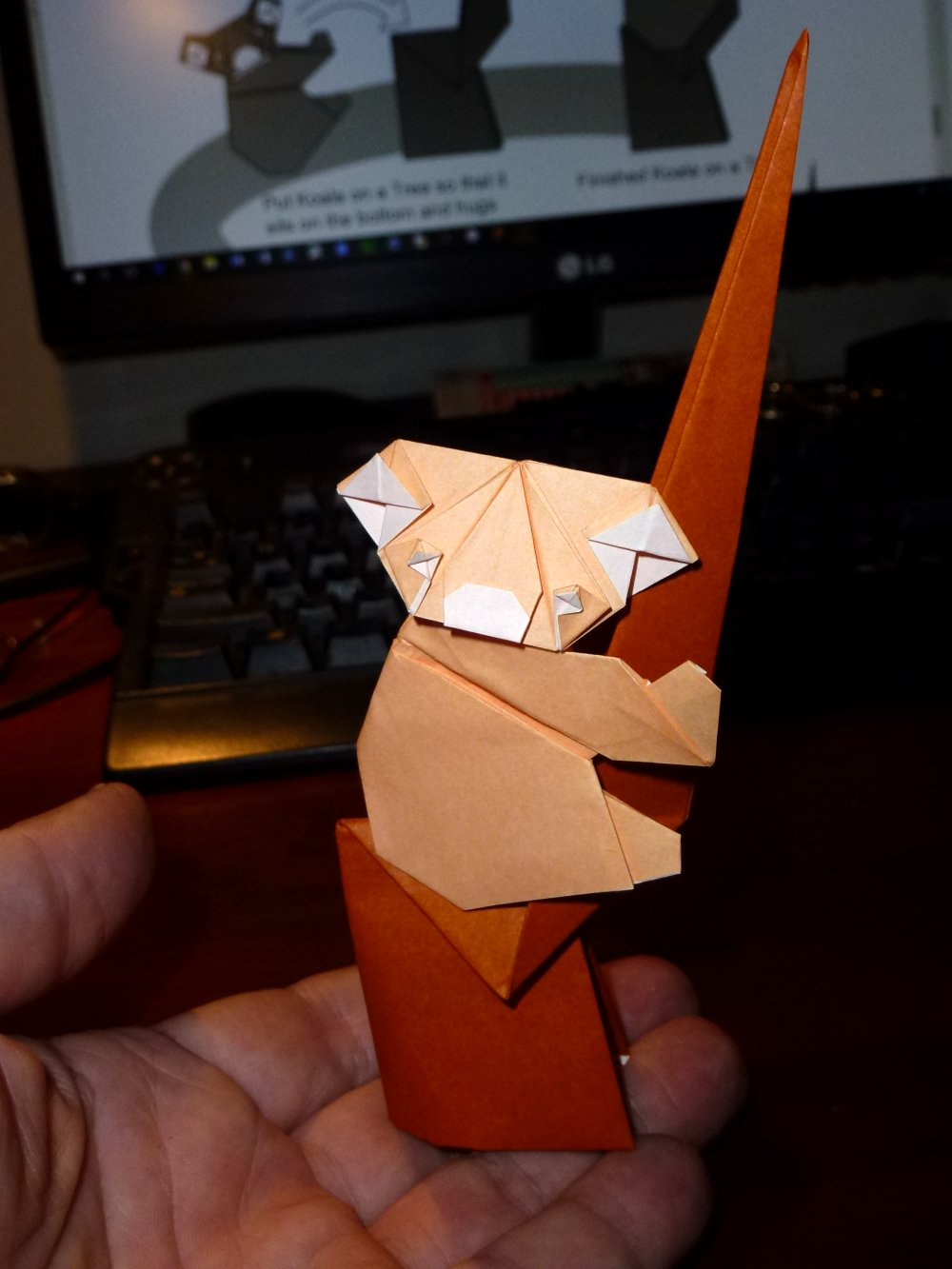 Origami Koalas - Page 1 of 2 | Gilad's Origami Page | 1333x1000
