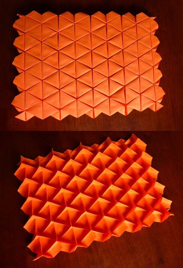 triangle waterbomb tessellation