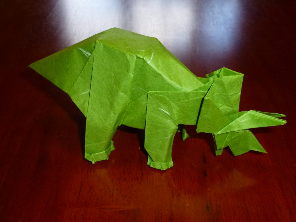 triceratops by Fumiaki Kawahata (Origami Tanteidan Magazine 57)