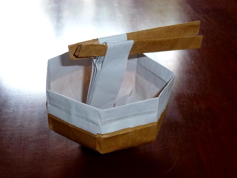 Ramen inside bowl