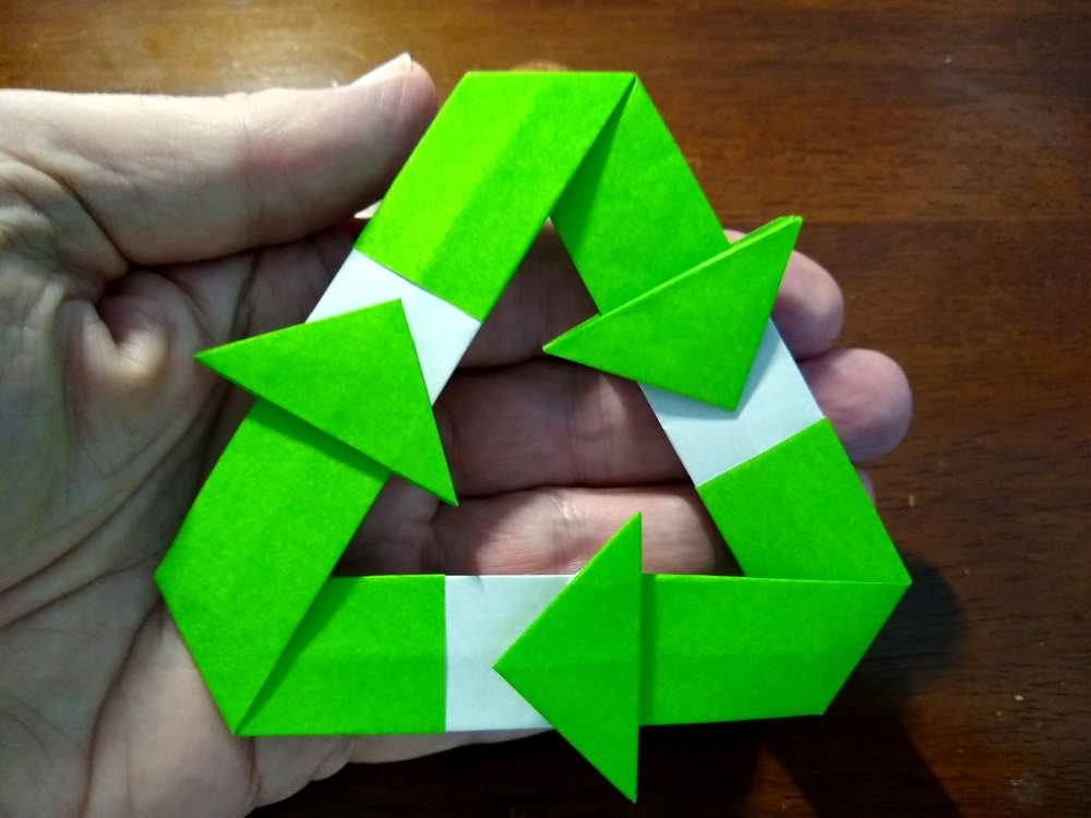 recycling logo in my hands