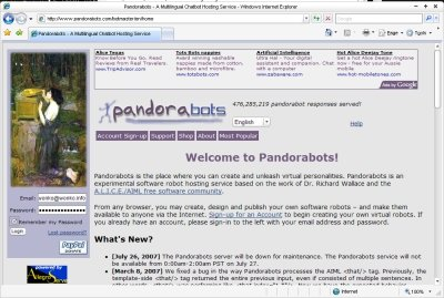 Sign in to PandoraBots Site