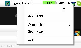 r-click on tray icon of running client program
