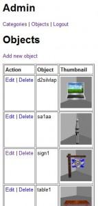 edit/delete object