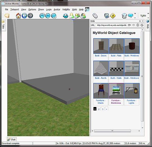 Object Catalog side-bar