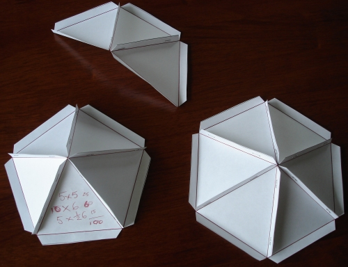 bunches of 3, 5 and 6 triangles