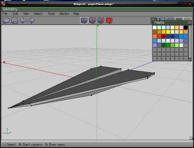 Paper Plane Model