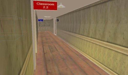 A dank corridor